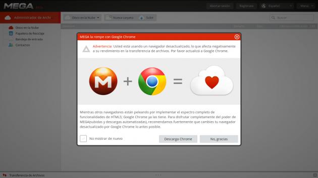 MEGA y su experiencia en Mozilla Firefox